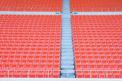 Empty seats at stadium. Stadium before the match of the tournament Stock Photography