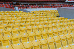 Empty seats at stadium. Stadium before the match of the tournament Royalty Free Stock Photos
