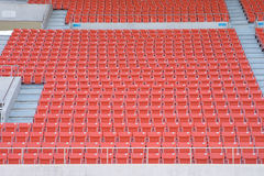 Empty seats at stadium. Stadium before the match of the tournament Stock Image