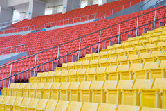 Empty seats at stadium. Stadium before the match of the tournament Royalty Free Stock Photo
