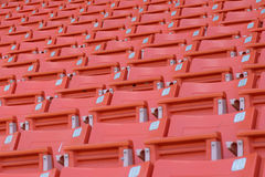 Empty seats at stadium. Stadium before the match of the tournament Stock Photos