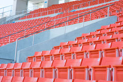 Empty seats at stadium. Stadium before the match of the tournament Royalty Free Stock Image