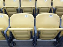 Empty seats in a stadium Royalty Free Stock Images