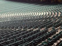 Empty seats in a stadium Stock Images