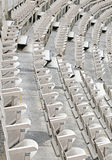 Empty seats in the stands. Many empty seats in the stands before the sporting event Royalty Free Stock Photo