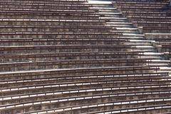 Empty seats in summer theatre Royalty Free Stock Photos