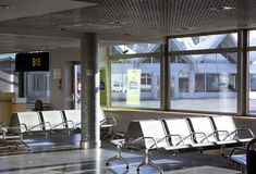 Empty seats in terminal waiting room in airport Royalty Free Stock Photos