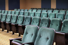 Empty seats in a theater auditorium Stock Photo
