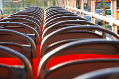Empty seats of a tour bus Royalty Free Stock Photography