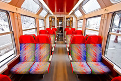 Empty seats in a train 1 Royalty Free Stock Image