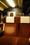 Empty seats on a train Royalty Free Stock Photography