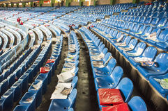 Empty seats at the Vicente Calderon, Madrid Stock Images