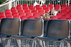 Empty seats for viewers Stock Photography