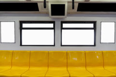 Empty seats and windows Royalty Free Stock Images