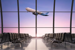 Empty seatsn in airport Royalty Free Stock Image