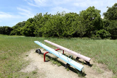 Empty seesaw in a park Stock Images