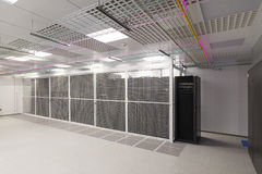 Empty server room. Of the modern data center Royalty Free Stock Photo
