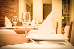 Empty set in restaurant Stock Image