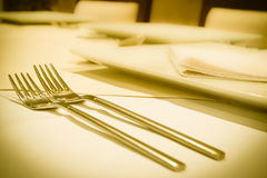 Empty set in restaurant Royalty Free Stock Image