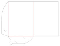 Empty shablon template folder and die cut, stamp. Stock Images