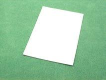 Empty sheet Stock Image