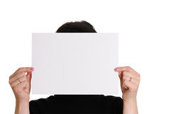 Empty sheet of paper Stock Image
