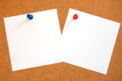 Empty sheet paper with push pin royalty free stock photo