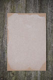 Empty sheet of paper for recipe on the old wooden background Stock Images