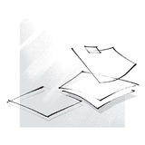 Empty sheets of paper, icon, freehand drawing. Loose calligraphic style Royalty Free Stock Photography