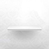 Empty shelf. Empty white shelf, computer illustration Royalty Free Stock Images