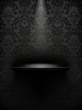 Empty shelf, black luxury. Empty shelf black, vintage illustration Royalty Free Stock Photos