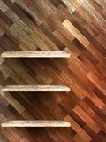 Empty shelf for exhibit on wood background. EPS 10 Royalty Free Stock Photos