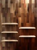 Empty shelf for exhibit on wood background. EPS 10 Royalty Free Stock Image