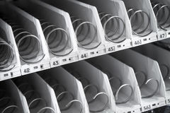 Empty shelf of vending machine Stock Images