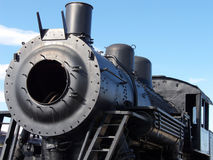 Empty Shell. Antique steam engine in preparation for rebuilding royalty free stock images