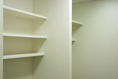 Empty shelves Stock Image