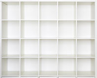 Empty shelves, Bookcase library Stock Image