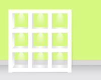 Empty shelves c backlight. Stock Photos