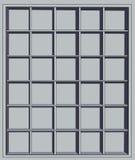 Empty shelves. Gray empty shelves for shop or home interier Stock Photo