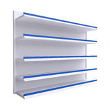 Empty shelves isolate on white background. For shop, market or other industry Royalty Free Stock Images