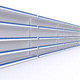 Empty shelves isolate on white background. For shop, market or other industry Stock Photo