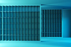 Empty shelves in the store Royalty Free Stock Image