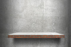 Empty shelves top Ready for product display montage; cement shelves and gray cement background.. royalty free stock images