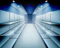 Empty shelves. Vector illustration. Stock Photography