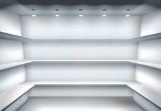 Empty shelves. Vector illustration. Empty shelves in wardrobe. Vector illustration Royalty Free Stock Image