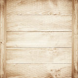 Empty shelves on wooden background. Royalty Free Stock Images