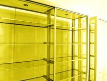 Empty shelving units stock photos