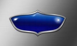 Empty shield logo Stock Image