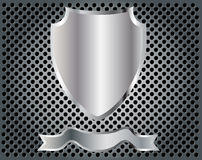 Empty shield. Empty metal shield on background vector illustration eps 10 Royalty Free Stock Images