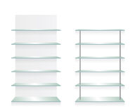 Empty shop glass shelves Stock Image